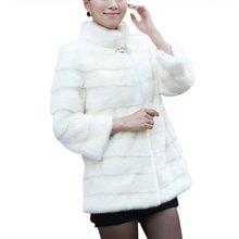 New Winter Fashion Women Coat Elegant Women Solid Coat Long Sleeve Faux Fur Coat Plus Size Female Outerwear Jacke