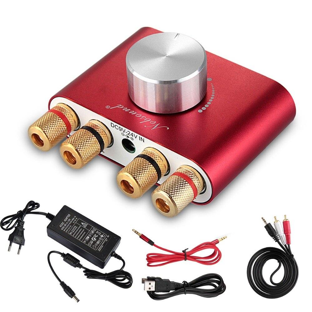 2018 Latest Nobsound F900 Mini Bluetooth Digital Amplifier Hifi Stereo Home Audio Power AMP 50W+50W Red цена 2017