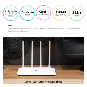Image 3 - New Xiaomi Mi Router 4A Gigabit Version 2.4GHz 5GHz WiFi 1167Mbps WiFi Repeater 128MB DDR3 High Gain 4 Antennas Network Extender