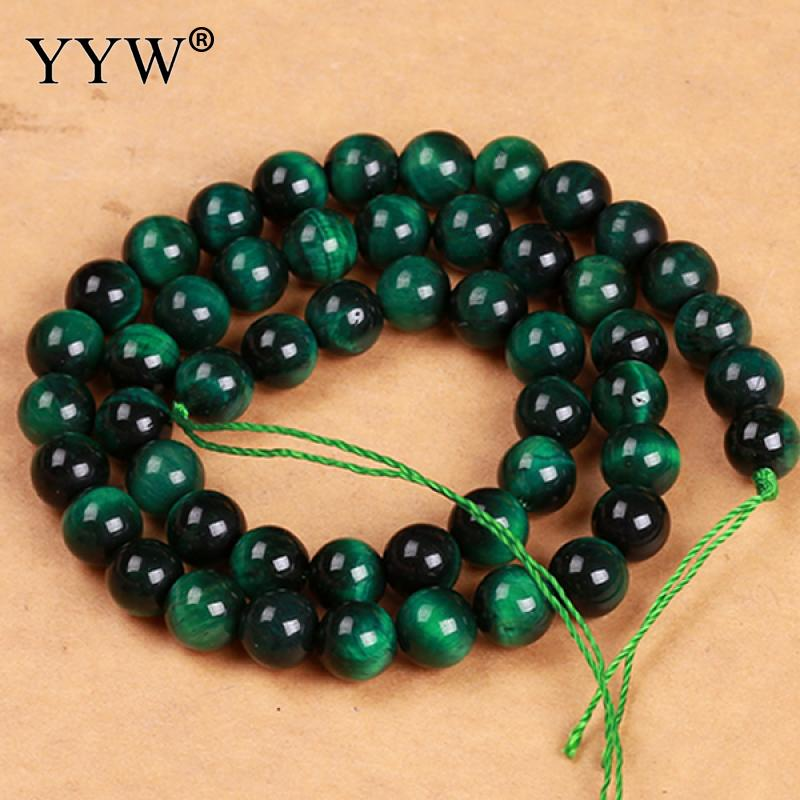 Natural Tiger Eye Beads, Round, different size for choice, green, Grade AAAAAA, Hole:Approx 1mm, Sold Per Approx 15.5