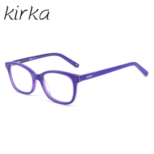 Kirka Children Eyeglasses Acetate Kids Glasses Purple Optical Frame Child Girls Eyeglass Frames For 6-10Age