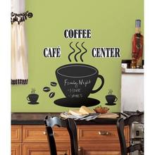 New Cafe Vinyl Wall Decal RoomMates Coffee Cup Chalkboard Peel and Stick Mural Art Wall Sticker Coffee Shop Bar  Decoration