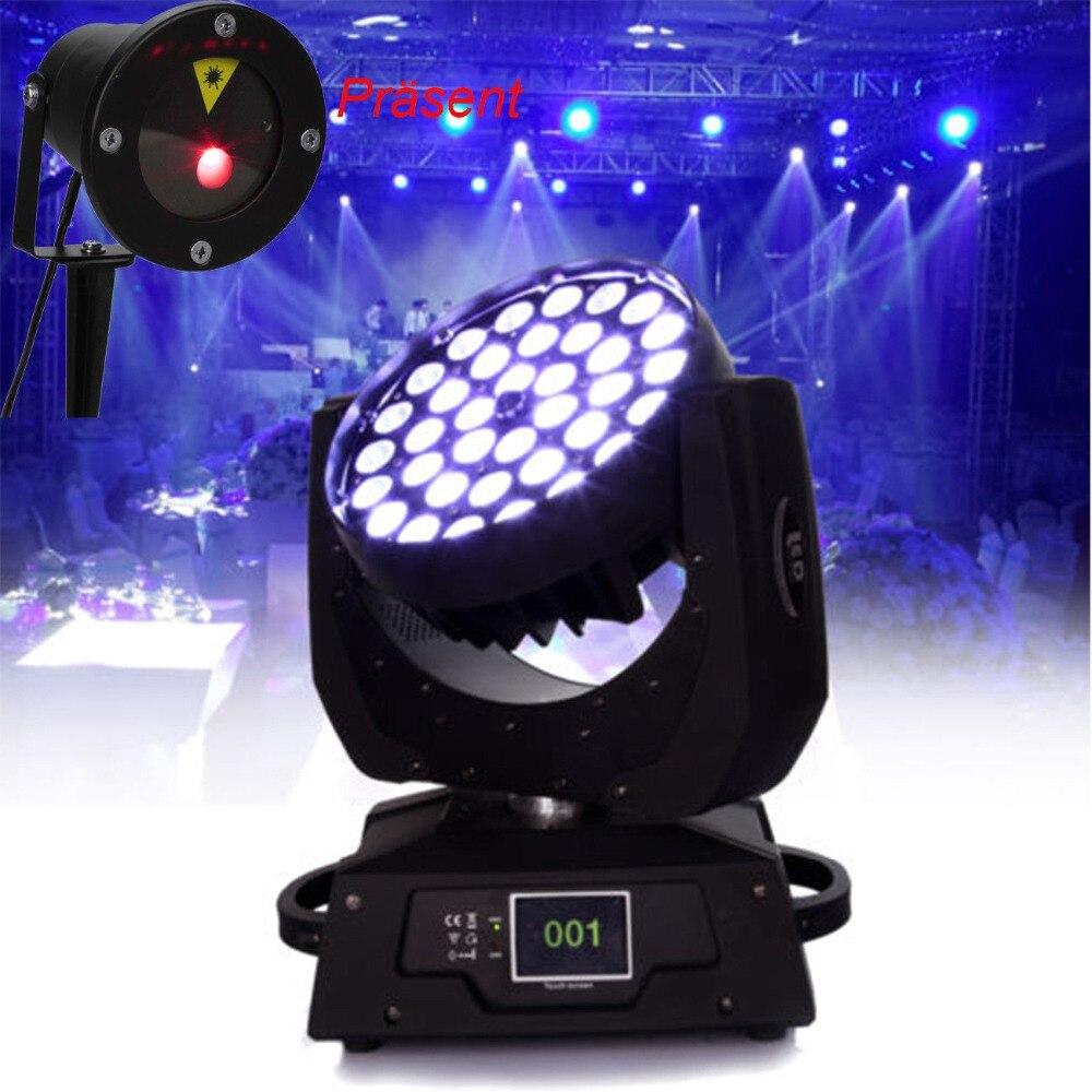 2pcs 36x10W RGBW LED Zoom Moving Head Light Red Green Blue White LED DMX DJ Lighting Disco Lamp with Lawn lamp цена