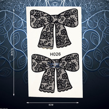 Sexy Lace Bow Bowknot Temporary Tattoo Stickers For Women Body Art Beauty Fake Arm Tattoo Waterproof Decals Tattoo Stickers PH26