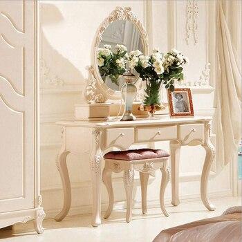 Bianco europeo tavolo specchio comò francese mobili camera da letto ...