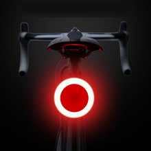 цена на Bike Taillight Waterproof Riding Rear O-Type Led light USB Rechargeable Road Cycling Light Tail-lamp Bicycle Light Accessories
