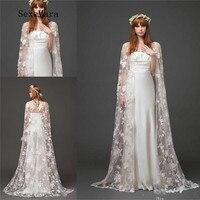 New Wedding Cape Lace Wedding Boleros Jackets Long Bridal Shawl Wedding Bolero Jacket Custom Size