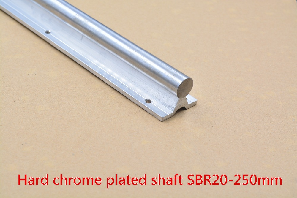 SBR20 linear guide rail length 250mm chrome plated quenching hard guide shaft for CNC 1pcs