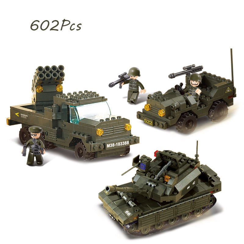 Models Building Toy 6800 602pcs Military Army Tank Building Blocks