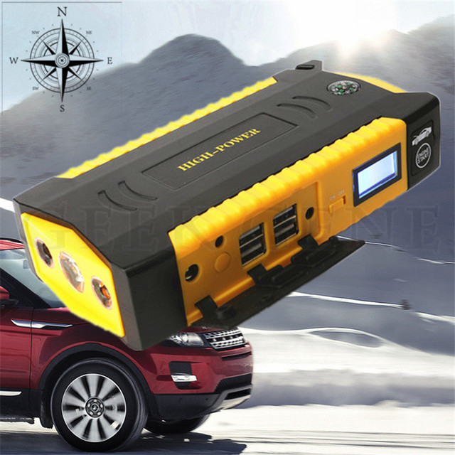 12V Petrol Diesel Multi-Function 16000mAh Car Jump Starter 600A Peak Car Charger Top 4USB Power Bank Compass SOS Light Free Ship