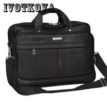 IVOTKOVA Business Men Briefcase Waterproof Handbag&Cross Body Bag Casual Tote Messenger 14.5/15.6 Inch Male Shoulder