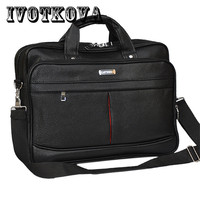 IVOTKOVA Business Men Briefcase Waterproof Handbag Cross Body Bag Casual Tote Messenger Bag 14 5 15