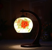 E27 New Chinese Vintage Table Lamp Bedside Light Living Room Study Room Kids Room Retro Fashion