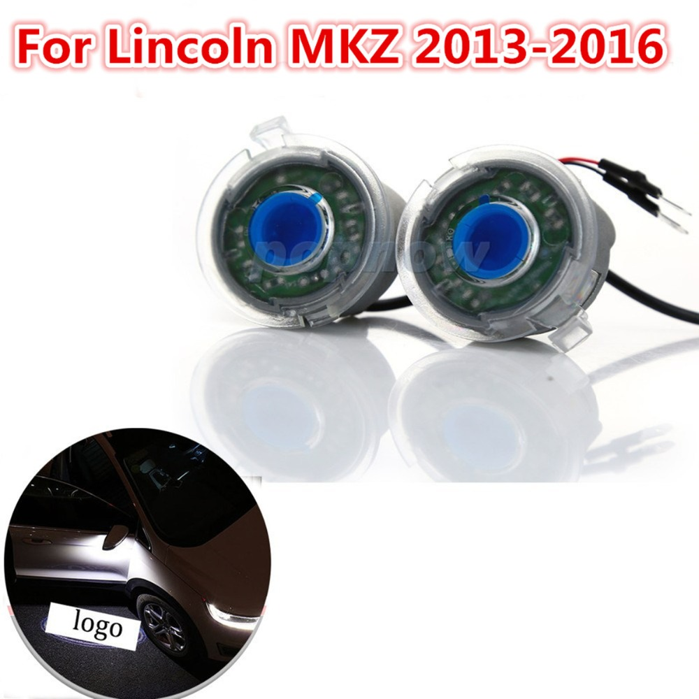 ФОТО 2pcs Rear View Mirror Mount Puddle Laser Lamp Projector Ghost Shadow Lights for 2013-2016 Lincoln MKZ #6812