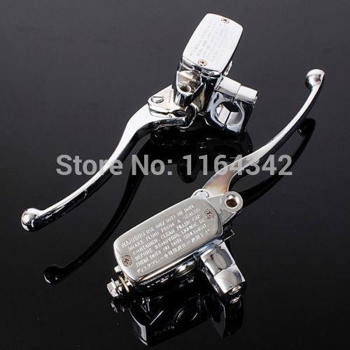 Universal Motorcycle 7/8 22mm Handlebar Master Brake Cylinder Clutch Lever For Harley Honda Suzuki Kawasaki Chrome for 22mm 7 8 handlebar motorcycle dirt bike universal stunt clutch lever assembly cnc aluminum