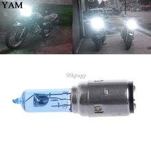 Motorcycle DC 12V 35W BA20D Headlight Halogen Bulb Xenon White Light New Drop shipping