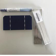ALLMEJORES 50pcs 125mm 62 5mm Monocrysatlline Solar cell 1 4W 0 5V For diy 12V 24V