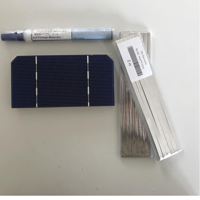 ALLMEJORES 50pcs 125mm*62.5mm Monocrysatlline Solar cell 1.4W 0.5V For diy 12V/24V Solar panel Give Enough Tab wire busbar wire