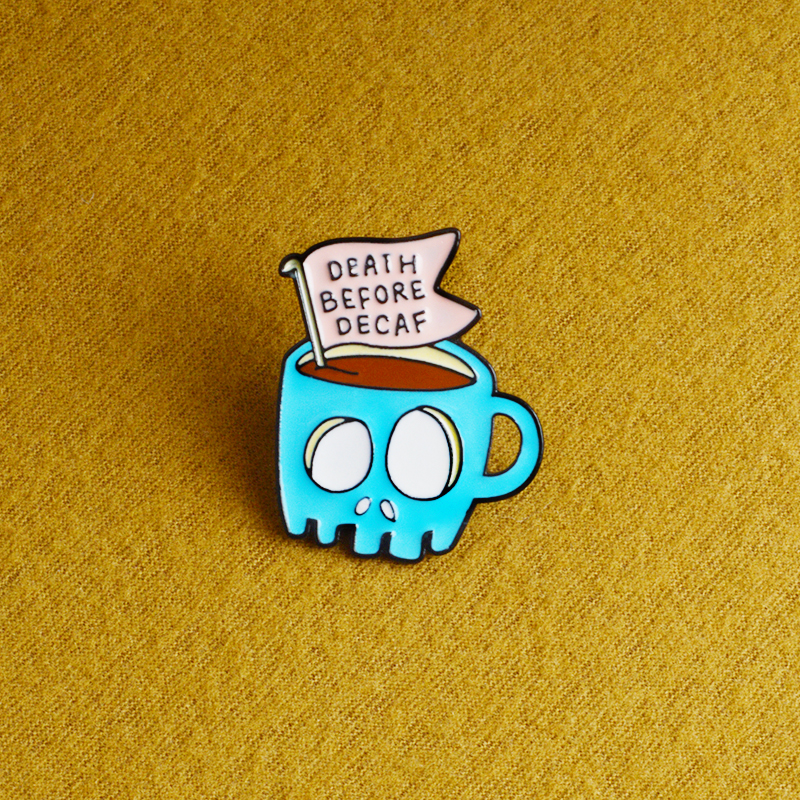 QIHE-JEWELRY-Blue-Skeleton-Coffee-Pins-Lapel-pins-Badges-Brooches-for-men-women-Punk-jewelry-Funny(2)