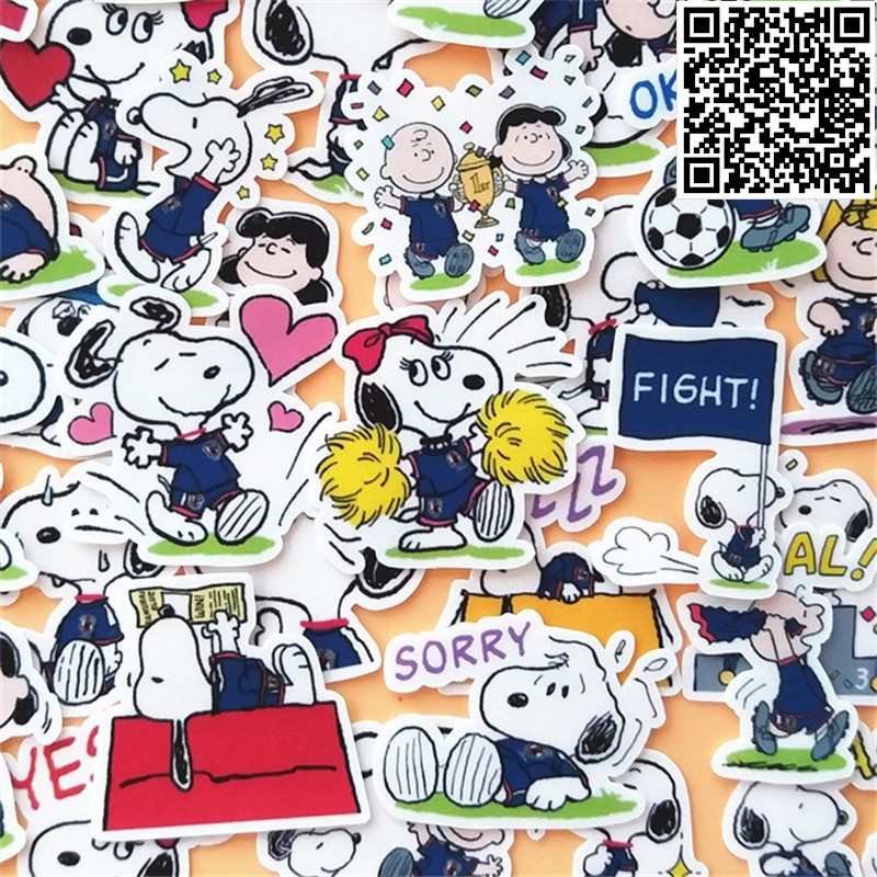 40 Pcs Cartoon Cute Puppy Sticker For Luggage Skateboard Phone Laptop Moto Bicycle Wall Guitar/Eason Stickers/DIY Scrapbooking