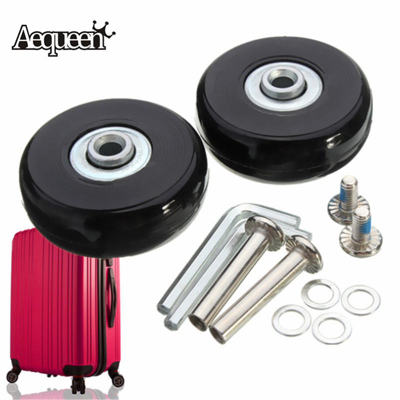 AEQUEEN Luggage Suitcase Wheels OD 50 1.97 Inch ID 6 W 18 Axles 35 Repair Set Replacement Luggage Wheels 50x18mm metalworking hand tool