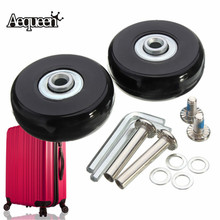 AEQUEEN Luggage Suitcase Wheels OD 50 1 97 Inch ID 6 W 18 Axles 35 Repair Set Replacement Luggage Wheels 50x18mm cheap Rubber SKU283546 145g