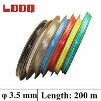 LDDQ 3,5 мм 100 м 7 цветов термоусадочная трубка для кабеля 2:1 термоусадочная трубка