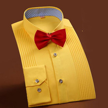 2018 Married Bridegroom Fashion Men Casual Dress Shirts,Pure Cotton High Quality Multicolor Formal Shirts Vestido Size S-4XL