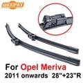 """QEEPEI Limpiaparabrisas Cuchillas Para Opel Meriva 2011 en adelante 28 """"+ 23"""" R de Alta Calidad Iso9001 Caucho Natural Limpio Parabrisas delantero CPC1"""