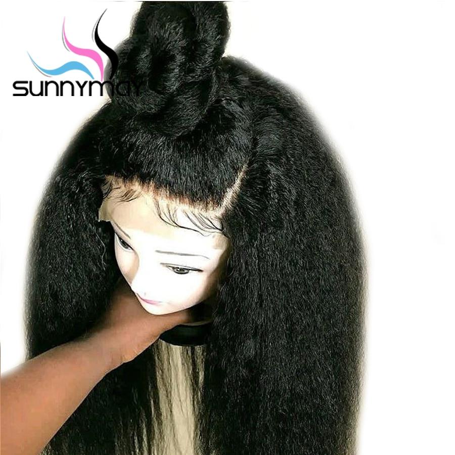 Sunnymay 13x4 կոպիտ ուղիղ կեղծամներ ՝ - Մարդու մազերը (սև) - Լուսանկար 3