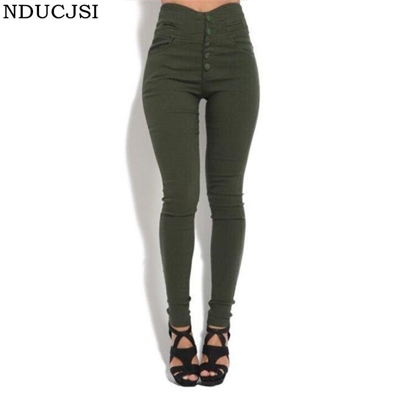 NDUCJSI Stretch Denim   Leggings   Casual Fashion Pencil Pants For Women Skinny Jeggings High Elastic Army Plus Size   Legging   5XL