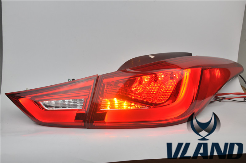 Free shipping Vland Factory for Hyundai Elantra Led Taillight LED Light Bar Taillamp Plug and Play for 2011-2013 waterproof [ free shipping ] brand new led rear light led back light benz style tail lamp for hyundai elantra 2012