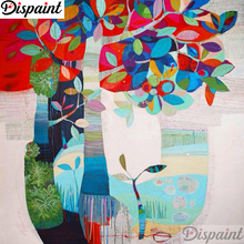 Dispaint Full Square/Round Drill 5D DIY Diamond Painting Tree painting scenery 3D Embroidery Cross Stitch Home Decor A11816