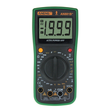 LCD Display Digital Multimeter+ Measuring Line Alligator Clip Voltage and Current Measurement Tools Multimeter f47t automatic protective multimeter measurement automatically protect any file by mistake