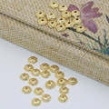 Wholesale price free shipping spacers beads caps accessories 6mm top quality flower shape 30pcs carved jewelry findings B2566