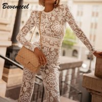 Hot Sale 2019 New White Sexy Floral Lace Bandage Jumpsuuit Long Sleeve O Neck Cocktail Party Bodysuit Chic Women Bodysuit