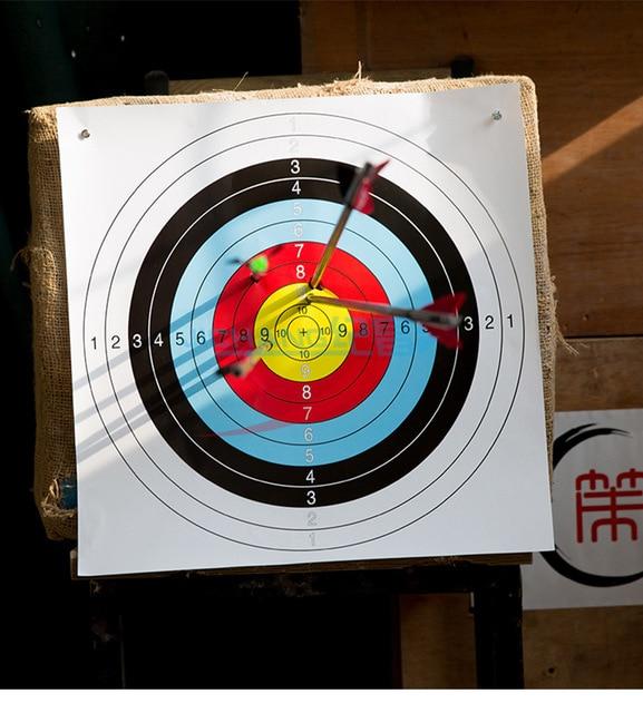 10 pcs 40*40cm Standard Archery Targets Paper Hunting Shooting Pratice Paper For Recurve Compound 5