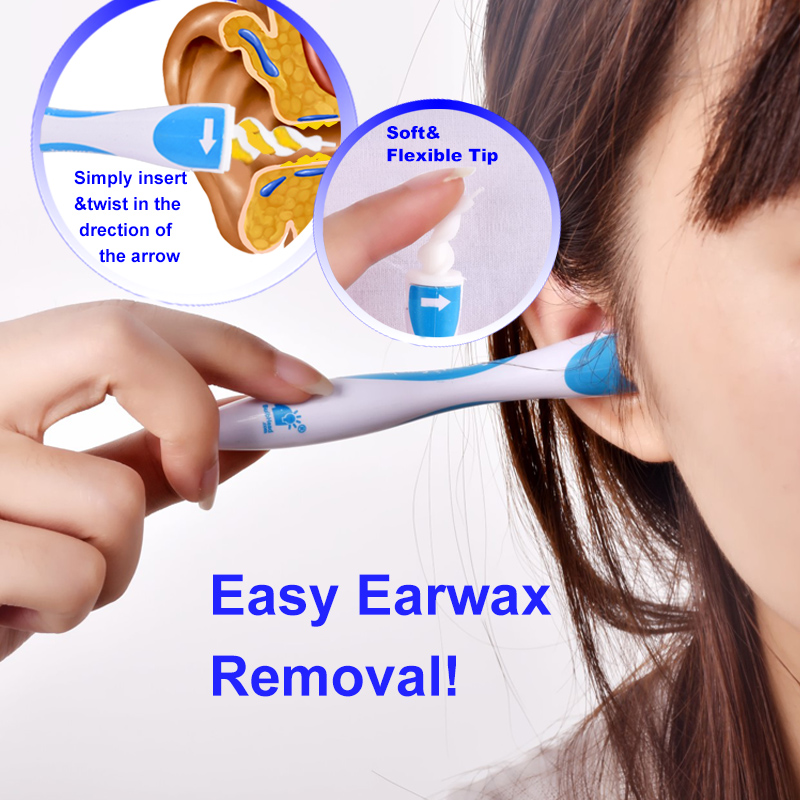 16Tips Earwax Cleaner Removal Easy Swab Earwax Remover Spiral Soft Safe Earpick Tools Ear Cleaning Tools Earpick Swab 1pcs ear cleaner tool easy earwax removal soft spiral cleaner ears care prevent ear pick clean swab painless safety ear care 05
