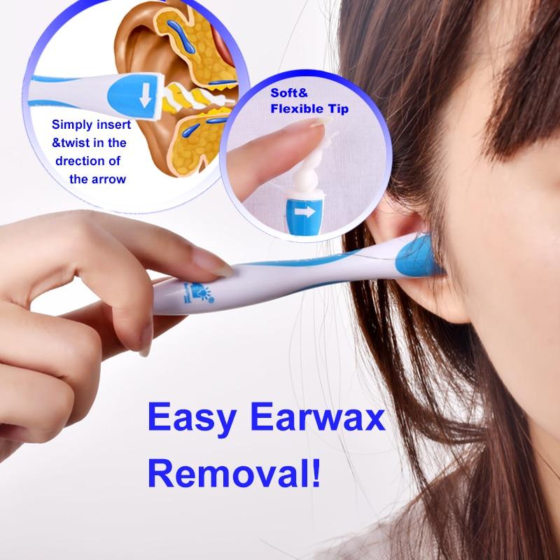 лучшая цена 16Tips Earwax Cleaner Removal Easy Swab Earwax Remover Spiral Soft Safe Earpick Tools Ear Cleaning Tools Earpick Swab