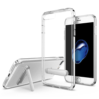 Original Ultra Hybrid S Case For IPhone 7 Plus Crystal Black Panel With Magnetic Metal Kickstand