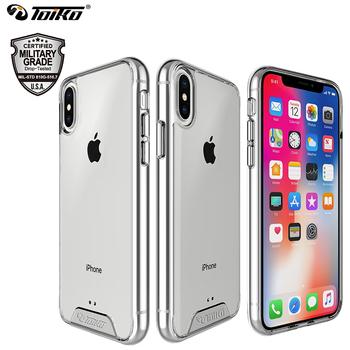TOIKO Chiron Rõ Ràng Lai PC TPU Cover Quay Lại đối với iPhone X XS MAX XR Chống Sốc Bảo Vệ Bumper Shell Lớp Quân Sự điện thoại Trường Hợp