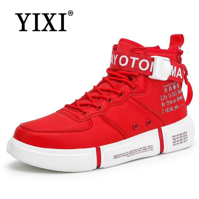 bc5e8a0c YIXI nuevos zapatos de los hombres zapatillas de deporte para los hombres  negro plataforma transpirable zapatos