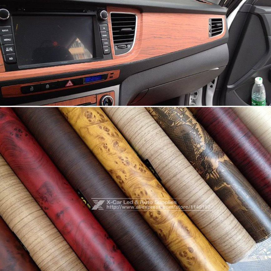 122 30cm self adhesive vinyl wood grain textured car wrap car internal stickers wallpaper. Black Bedroom Furniture Sets. Home Design Ideas