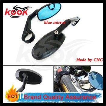 High Quality Black CNC Aluminum Motorcycle Bar End Side Mirrors reaview mirror For Honda Cruiser Sport Racer KTM