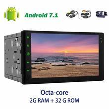 Android 7.1 2 Дин Радио Стерео GPS навигатор без CD DVD головного устройства Авторадио Поддержка Wi-Fi/Bluetooth/OBD2 /FM/AM + беспроводная камера