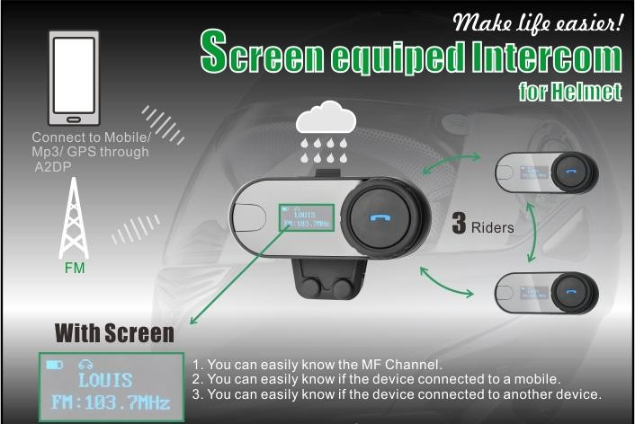 TCOM-SC Helmet Bluetooth Intercom