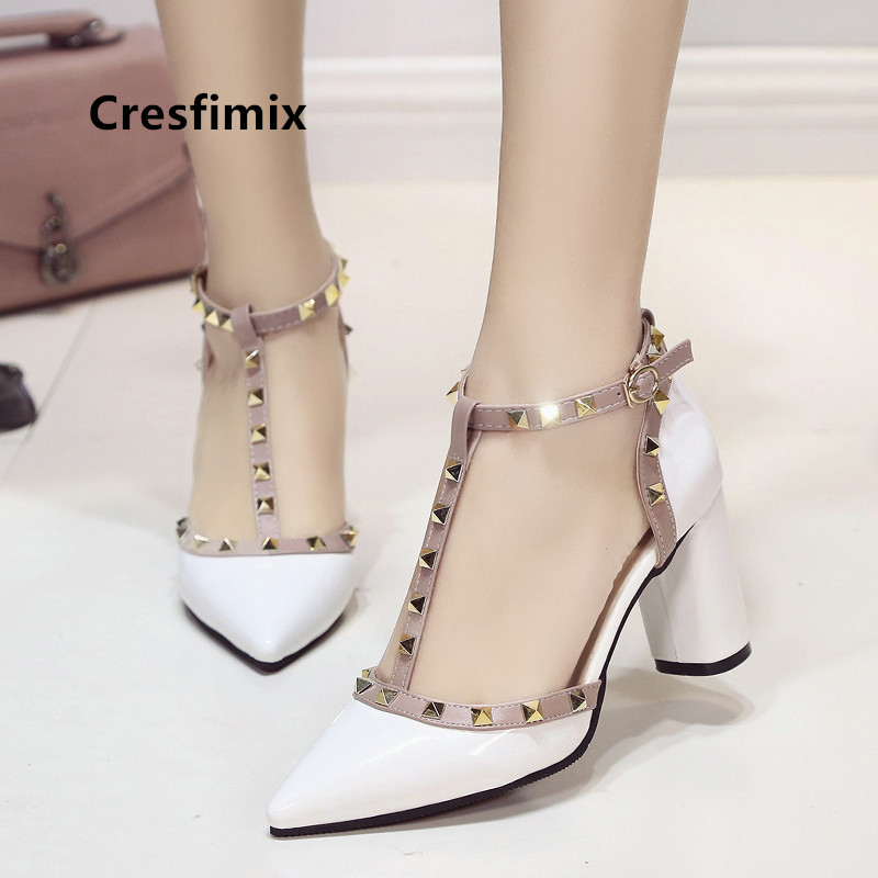 Cresfimix women fashion sweet pink sexy party high heel shoes lady cute pumps night club shoes mujer sexy tacones altos a5074