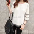 2016 New Blouses for Women Winter Knitted Plus Size Woman Shirt Casual Novelty Tassel blusas femininas lady Top tunic White