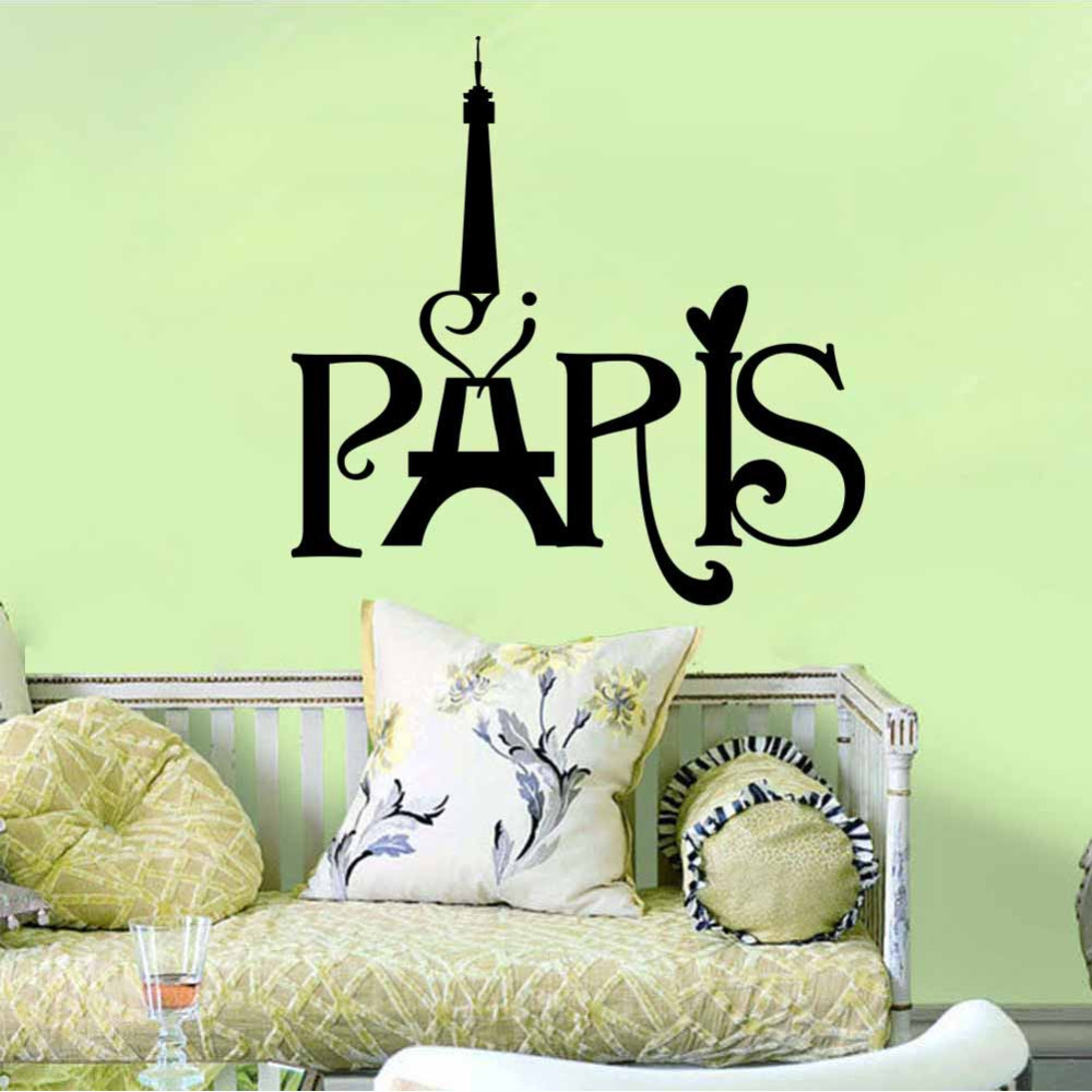 Paris Eiffel Tower Wall hangings Living room bedroom background decoration  Wall Stickers Home Decor-in Wall Stickers from Home & Garden on  Aliexpress.com ...