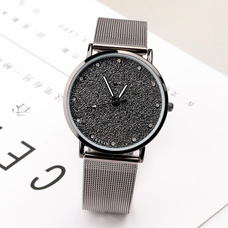 New Luxury Men's Watch Women's Ultra Thin Stainless Steel Fashion Casual Watch Female Male Wristwatch Lovers Watch 1